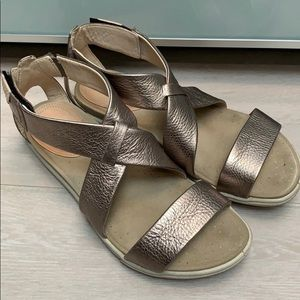Ecco Sandals light metallic gold